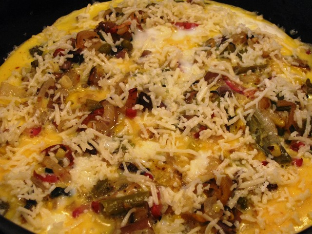 Fritatta with Cheese  Ready to Serve