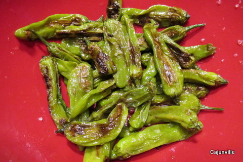 Shishito Peppers ready for serving